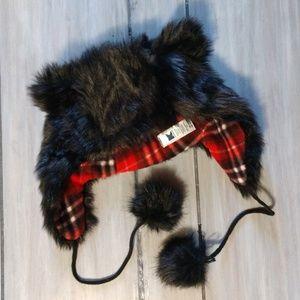 Kmart black furry cat ears beanie